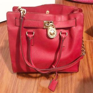 Michael Kors Red Leather Shoulder Bag!!